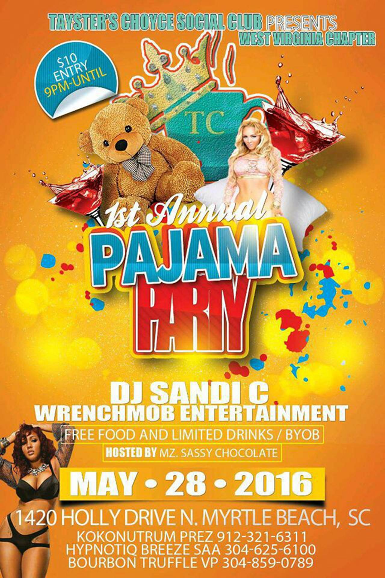 pajama sexy party free flyer psd template by elegantflyer